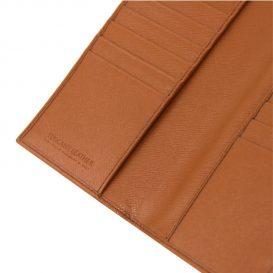 イタリア製本牛革カーフ・サフィアーノレザーのメンズ長財布