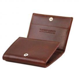 イタリア製本牛革カーフレザーの3つ折りメンズ財布