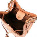 MINERVAイタリア製本革 サフィアーノ・カーフレザーの巾着バッグ