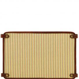 イタリア製コットンとレザーのバッグ仕切りモジュールTL SMART MODULE、ブラウン
