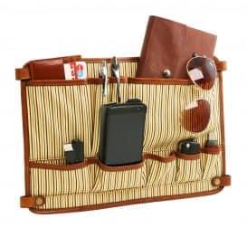 イタリア製コットンとレザーのバッグ仕切りモジュール(ポケットつき)TL SMART MODULE、詳細5