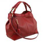 イタリア製AMBROSIA 柔らかいカーフレザーの2WAYハンドバッグ