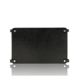 イタリア製ベジタブルタンニンレザーのバッグ仕切りモジュールTL SMART MODULE、ブラック