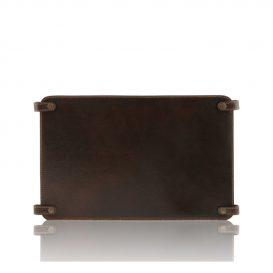 イタリア製ベジタブルタンニンレザーのバッグ仕切りモジュールTL SMART MODULE、ダークブラウン