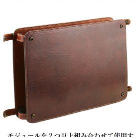 イタリア製ベジタブルタンニンレザーのバッグ仕切りモジュールTL SMART MODULE、ブラウン