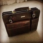 イタリア製本革バッグ、メンズバッグ、ダークブラウン、お客様からの写真