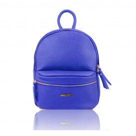 イタリア製・柔らかいカーフレザーのリュック TL BAG・ブルー・青