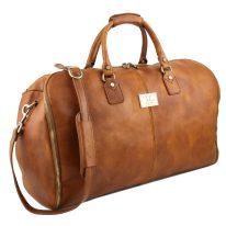 イタリア製ベジタブルタンニンレザーの旅行/衣装バッグ ANTIGUA、詳細1