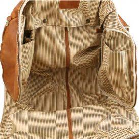イタリア製ベジタブルタンニンレザーの旅行/衣装バッグ ANTIGUA、詳細9