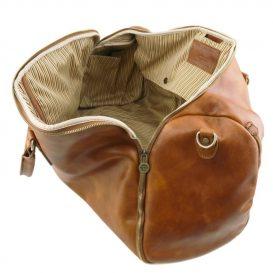 イタリア製ベジタブルタンニンレザーの旅行/衣装バッグ ANTIGUA、詳細4