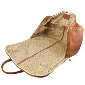 イタリア製ベジタブルタンニンレザーの旅行/衣装バッグ ANTIGUA、詳細5