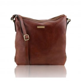 Alice Borsa Donna Shopper In Pelle - Misura Grande Marrone