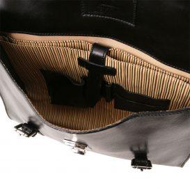 イタリア製VIAREGGIO 本牛革ベジタブルタンニンレザーの3WAY・PC搬送バッグ