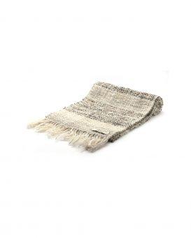 bianca-nera-カシミヤ混の手織りマフラー