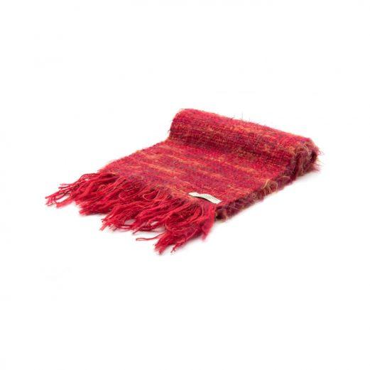 イタリア製ハンドメイド手織りマフラー、ステファノ・チャッピ、stefano ciappi、赤、レッド