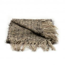 イタリア製ハンドメイド手織りマフラー、ステファノ・チャッピ、stefano ciappi、ブラウン、茶系