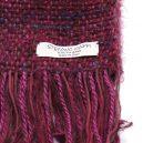 イタリア製ハンドメイド手織りマフラー、ステファノ・チャッピ、stefano ciappi、ボルドー