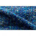 イタリア製ハンドメイド手織りマフラー、ステファノ・チャッピ、stefano ciappi、ブルー、青