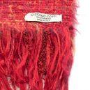 イタリア製ハンドメイド手織りマフラー、ステファノ・チャッピ、stefano ciappi、レッド、赤