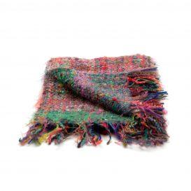 イタリア製ハンドメイド手織りマフラー、ミックスカラー、ステファノ・チャッピ、stefano ciappi