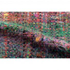イタリア製ハンドメイド手織りマフラー、ミックスカラー