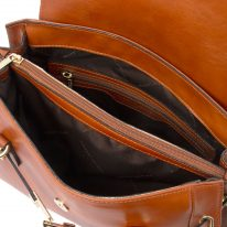 イタリア製フルグレインレザーのハンドバッグ TL NEOCLASSIC、ハニー、詳細2