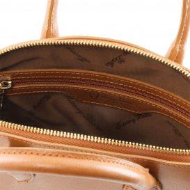 イタリア製サフィアーノレザー2WAYトートバッグ Sサイズ TL KeyLuck、コニャック、詳細2