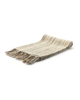 NATURALE CHIAROカシミヤ混の手織りマフラー