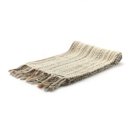 イタリア製手織りマフラー・カシミヤ・ナチュラルカラー