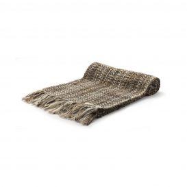 イタリア製手織りマフラー・カシミヤ・こげ茶・ダークブラウン