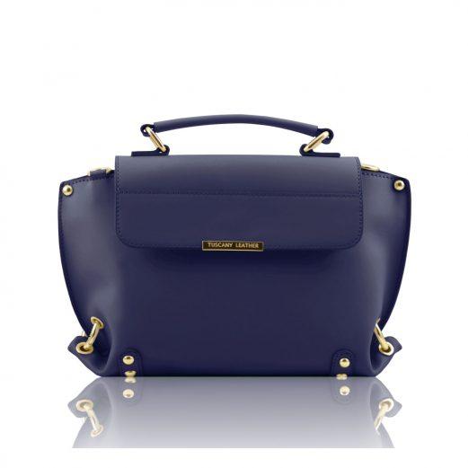 イタリア製本革バッグ人気デザイン、RUGA カーフレザーの2WAYバッグTL Bag、ダークブルー、ブルー、青
