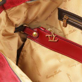 イタリア製ANNIE ヴィンテージ加工カーフレザーの2WAYトートバッグ TL Bag (モジュール対応)詳細10