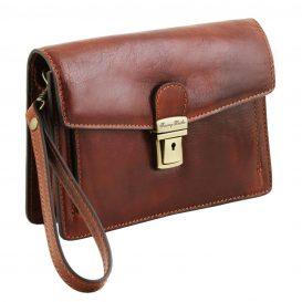 イタリア製ベジタブルタンニンレザーのセカンドバッグ TOMMY、詳細1