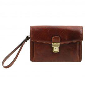 イタリア製ベジタブルタンニンレザーのセカンドバッグ TOMMY、詳細2