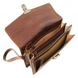 イタリア製ベジタブルタンニンレザーのセカンドバッグ TOMMY、詳細3