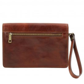 イタリア製ベジタブルタンニンレザーのセカンドバッグ TOMMY、詳細4