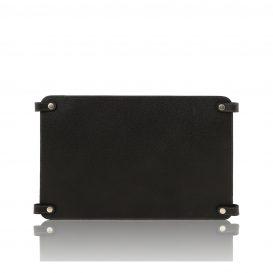 カーフレザーのバッグ仕切りモジュールTL SMART MODULE、ブラック、黒