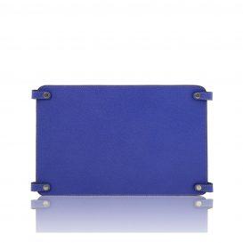 カーフレザーのバッグ仕切りモジュールTL SMART MODULE、ブルー、青