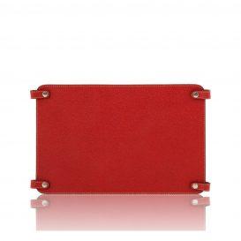 カーフレザーのバッグ仕切りモジュールTL SMART MODULE赤、レッド