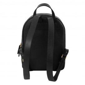 イタリア製カーフレザーのリュック TL BAG、シンプル本革リュック、黒、ブラック、詳細2