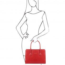 イタリア製・柔らかいソヴァージュレザーのショルダーバッグTL Bag・詳細1