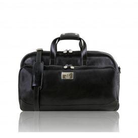 SAMOA イタリア製ボストンバッグタイプ・2車輪スーツケース(小)ブラック・黒