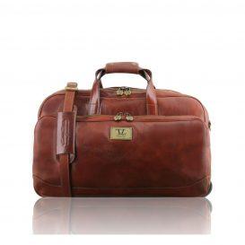 SAMOA イタリア製ボストンバッグタイプ・2車輪スーツケース(小)ブラウン・茶