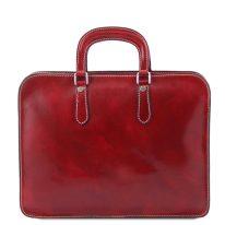 イタリア製ベジタブルタンニンレザーのビジネスバッグ ALBA、詳細2
