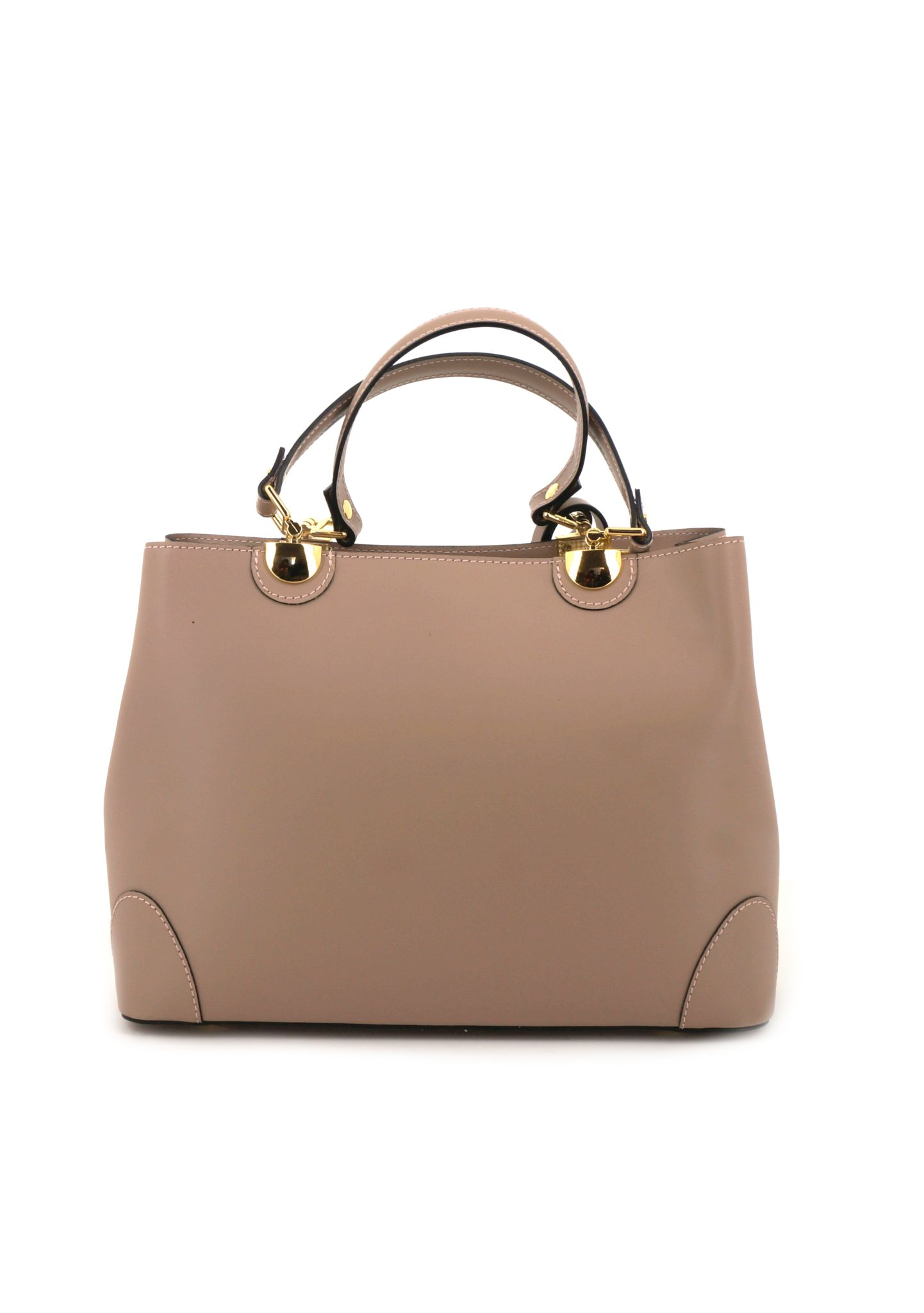 Beige Ruga Leather Double Handle Handbag With Strap 019 detail 4