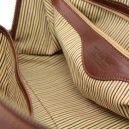 イタリア製本牛革ベジタブルタンニンレザーの旅行ボストンバッグ・表ポケットあり - Sサイズ TL VOYAGER・詳細3