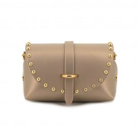Gold Studded Mini Clutch Bag With Strap