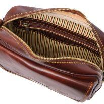 イタリア製ベジタブルタンニンレザーのセカンドバッグ IVAN、詳細1