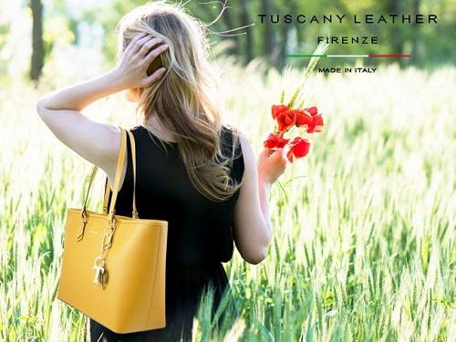 イタリア製本革トートバッグ、イエロー、黄色、サフィアーノレザー
