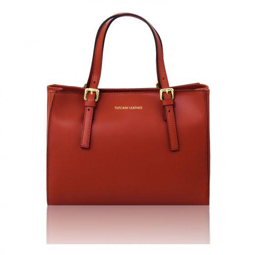 イタリア製本革バッグ、2WAYハンドバッグ、ショルダーバッグ、AURA、レッド、赤、ダークレッド